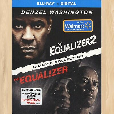 Denzel Washington THE EQUALIZER 1 & 2 Exclusive BLU-RAY 2-Movie Collection  0613