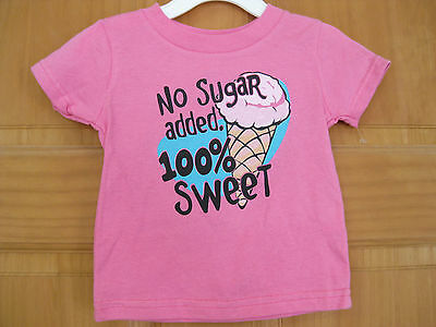 "Little Teez Infant T-shirt NEW ""No Sugar Added 100% Sweet"" Choice Size"