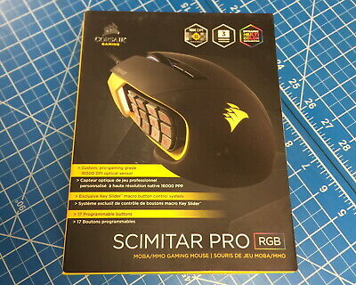 b529e08938b CORSAIR Scimitar PRO Wired RGB Optical Gaming Mouse Yellow CH-9304011-NA