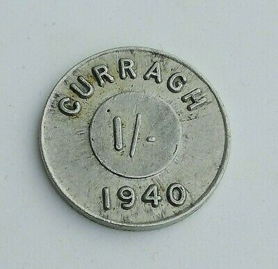 Ireland, Curragh Internment Camp 1940 1/- Aluminium 27mm. token, Irish Army