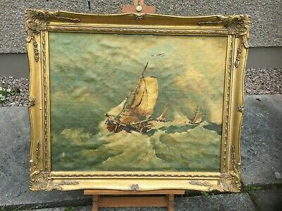 James Webb British Artist(1825-1895) Oil On Canvas Laid On Board Painting Signed
