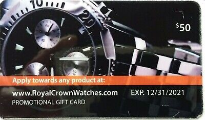 Royal Crown Watches Gift Card $50 - Free Shipping