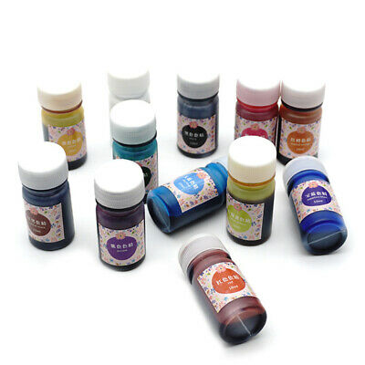 12 Bottle 10g Epoxy UV Resin Dye Colorant Resin Pigment Mixed Color DIY