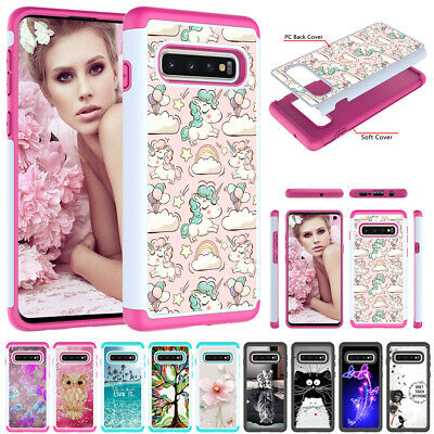For Samsung Note 10+ Note 9 S9 S8 S7 Case Hybrid Rubber Bumper Heavy Duty Cover