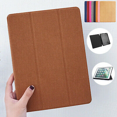 For iPad Mini 5th Gen Case 2019 Retro Smart Leather Pen Slot Folding Stand Cover