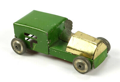 1930s Antique Pre-War Japanese Tin Toy Automobile Penny Toy Style Vehicle