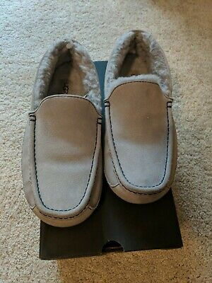 7085240b94a UGG MENS ASCOT Grey Marble Bottom Suede Slipper Shoe Size 12 Us Rare ...