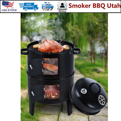 Smoker BBQ Utah Outdoor Grill Charcoal Barbecue Cooker Backyard Camping Patio US