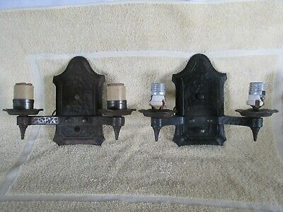 Gothic Sconce Pair for Restoration