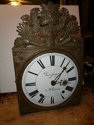 Antique-French-Morbier Clock Movement-Ca.1880-To Restore-#T493