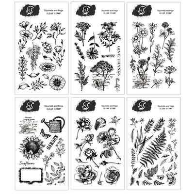 Plants Silicone Clear Stamp Transparent Rubber Stamps DIY Scrapbooking Craft