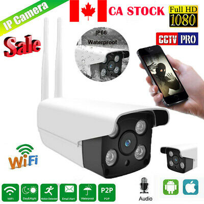 Security Wireless WIFI IP Camera 1080P Outdoor IR Night Vision Built-in TF Card