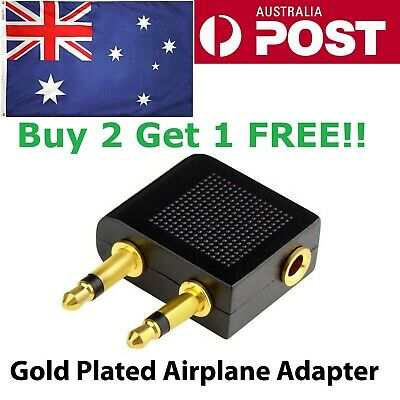 BUY 2 GET 1 FREE Airplane adapter Air plane Headphone Jack Connector audio 3.5mm