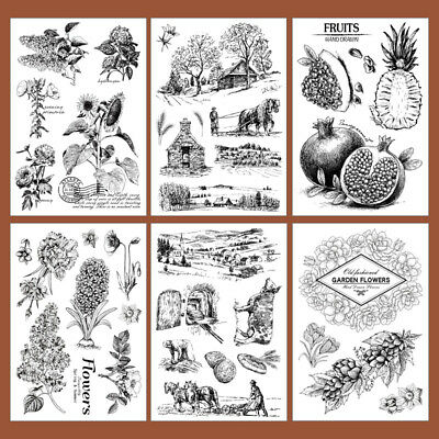 Silicone Clear Stamp Fruit Plants Transparent Rubber Stamps DIY Scrapbook Craft