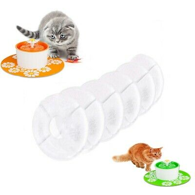 6PCS Pet Cat Dog Water Drinking Carbon Filters Flower Fountain Replacement