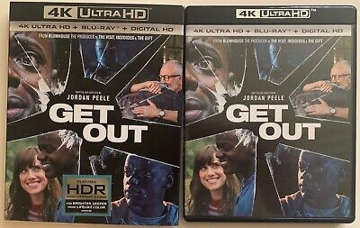 Get Out 4K Ultra Hd Blu Ray 2 Disc Set + Slipcover Sleeve Free World Shipping