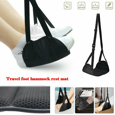 CA Comfy Hanger Travel Airplane Footrest Hammock Made with Premium Memory Foam