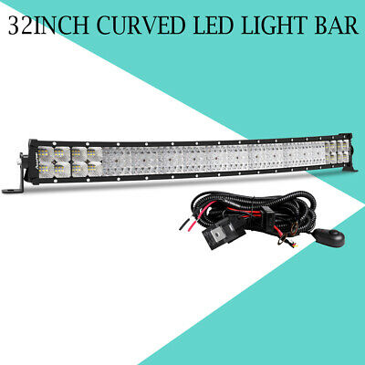 """10D 32/""""INCH 3808W LED Work LIGHT BAR Combo Offroad Truck SUV Jeep 29/"""" 30/"""""""