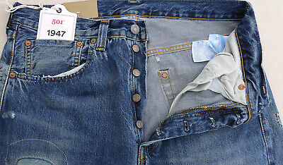 0251acc3 LEVIS Vintage Clothing 1947 501 Big E Cone Denim Selvedge Jean Blue Mens 33  $395