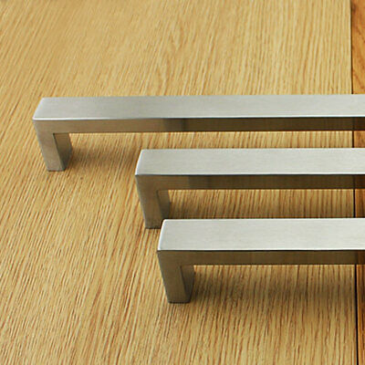 Kitchen handles 304 Stainless steel cabinet drawer pulls Square cupboard 20mm