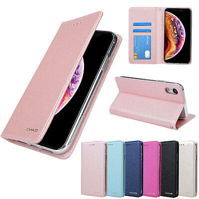 Flip Wallet Magnetic Leather Case For iPhone XS Max XR X 6 6S 7 8 Plus Silk