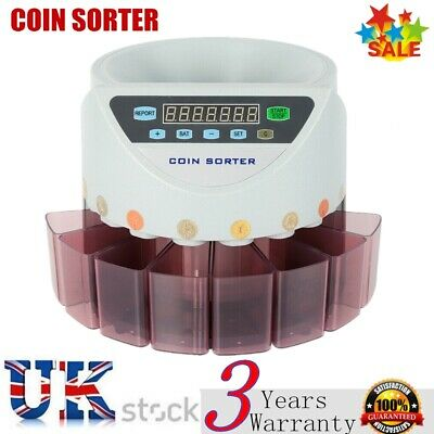 Automatic Electronic Money Coin Cash Counter Counting New Sorter Machine Gbp