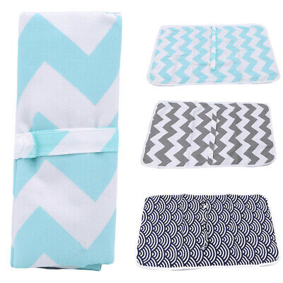 Breathable Baby Waterproof Portable Foldable Diaper Travel Changing Mat Storage