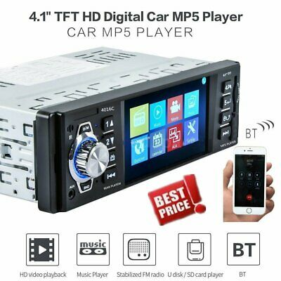 4.1'' HD TFT 1Din MP5 Player LCD Vehicle Car Stereo Radio FM AUX USB