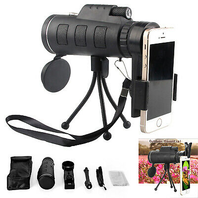 HD 40X60 Optical Zoom Clip on Camera Lens Phone Telescope For Mobile Cell Phone