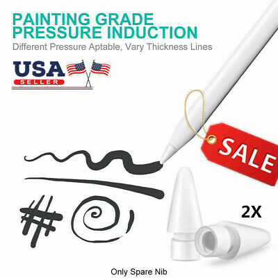 2X Replacement Nibs Tips for Apple Pencil 1st & 2nd Generation 100% Original US