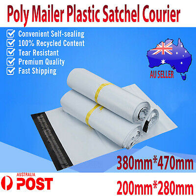 Poly Mailer Plastic Satchel Courier Self Sealing Shipping Bag Satchet Recycable
