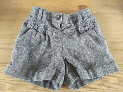 Next Girls Shorts with cute pockets & bow detail: tweed brown sparkly party