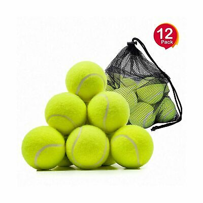 Tennis Balls, OMorc 12 Pack Sport Play Cricket Dog Toy Ball with Mesh Carryin...