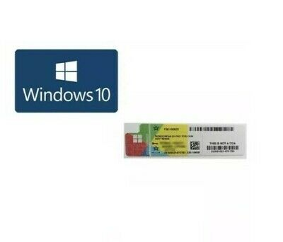 Microsoft Windows 10 Pro Professional Genuine 32-Bit 64-Bit COA Sticker License