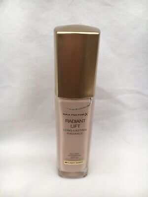 New & Sealed Max Factor Radiant Lift Foundation In 40 Light Ivory 30Ml Spf30
