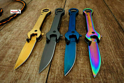 "7.5"" Wrench Tactical SPRING ASSISTED Open FOLDING POCKET KNIFE Multi-Tool Sharp"