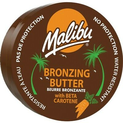Malibu Tanning Bronzing Body Butter With Beta Carotene Coconut Fragrance 250ml