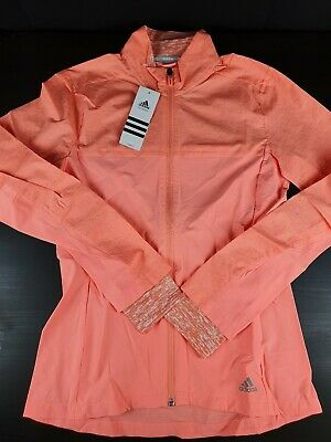 Womens Adidas Running Storm Jacket In Pink New With Tags Small