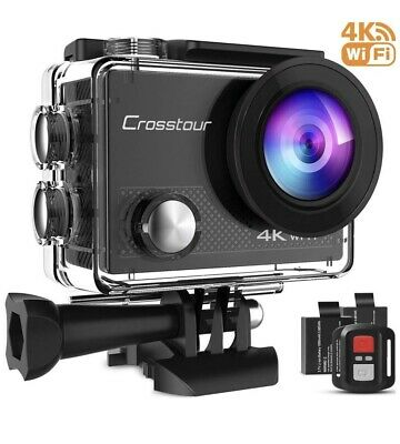 Crosstour 4K 16MP Action Cam WIFI Subacquea Ultra HD Sport Action Camera 170°