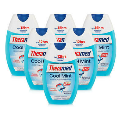 Theramed 2 In 1 Cool Mint 6 Pack