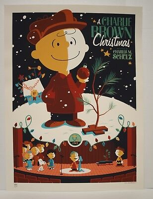 Tom Whalen Art Print 79/450 A Charlie Brown Christmas (Signed & Numbered)  03/69
