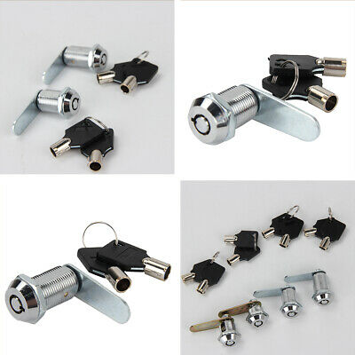 Cam Lock for Door Cabinet Mailbox Drawer Cupboard Locker 16mm 20mm 25mm+2 Key