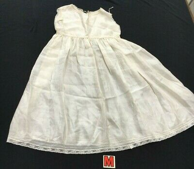 Vintage Silk baby gown/child's dress off white vgc christening/wedding handmade