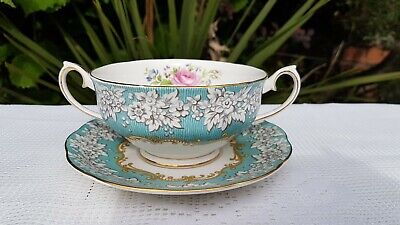 Royal Albert Enchantment two handles soup cup & saucer
