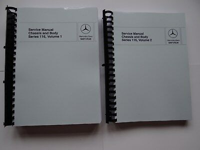 Mercedes Benz W116 450SEL 450SEL 6.9 Chassis and Body Manuals  2 Volumes  Repair