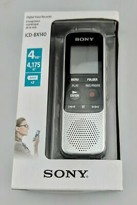 Sony ICDBX140 4GB Digital Voice Recorder In Box Good Shape