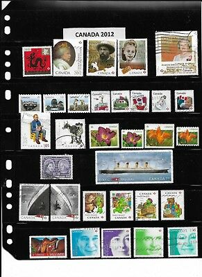 Canada Stamps 2012 Used