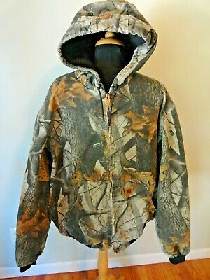 e524f7d740207 Carhartt Hooded Jacket Camo Realtree Mens XL Model J134 CMO Hunting Work  Casual