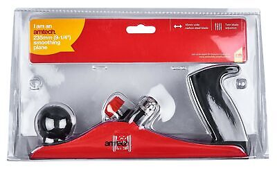 """New 9 1/4"""" Hobbyist Smoothing Plane Carbon Steel Blade Shaped Handle For Control"""