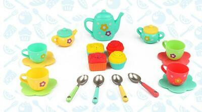 New 22 Pieces Tea Set Role Pretend Play Kids Childrens Toy Playset Fun Gift